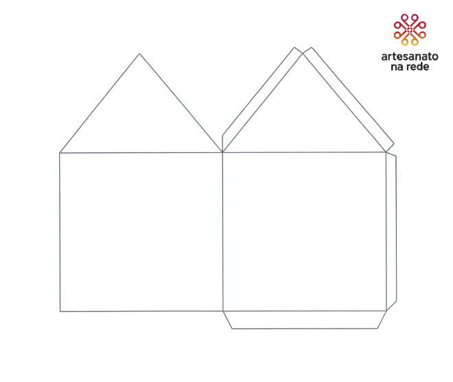Tudo em 1: Envelopes de papel decorativo e Tag para presente - Envelope Casa