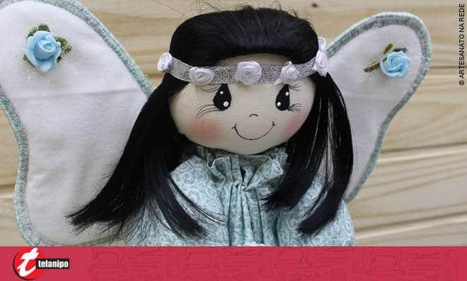 Anjinho no céu! Uma linda boneca para decoração - Imagem detalhada