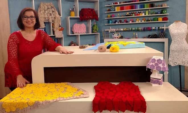 Neuzy Valim: Conhecida pelo crochê e conhecida na TV!